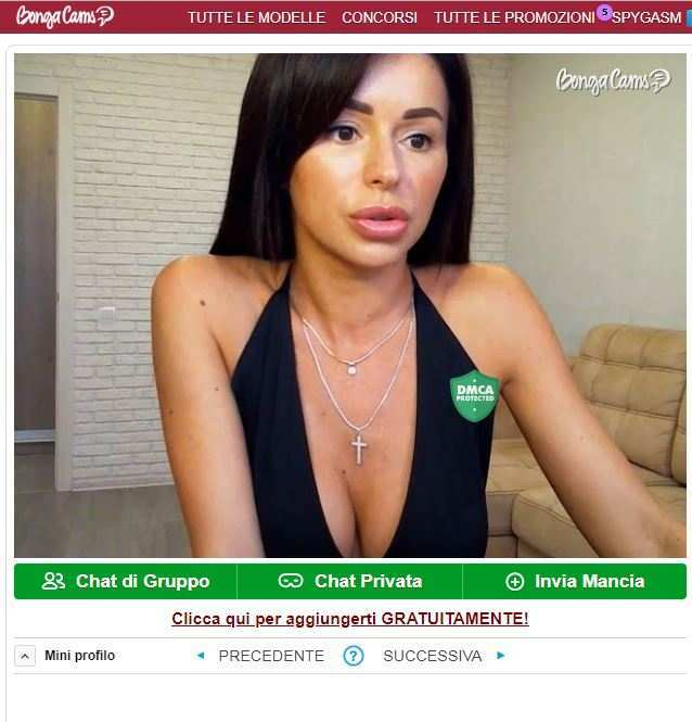Ragazza webcam brunetta su BongaCams