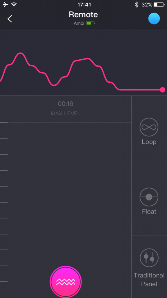 Screenshot della Lovense App su smartphone